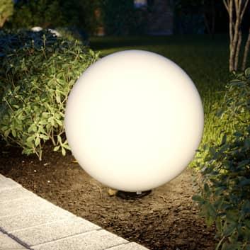 Prios Senadin Leuchtkugel, weiß, IP54, 50 cm