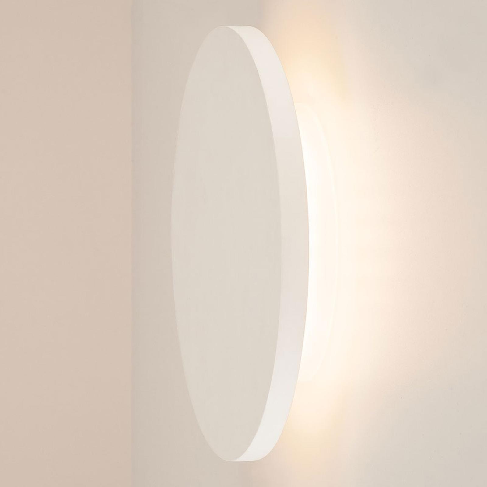 SLV Plastra LED-Wandleuchte aus Gips, rund