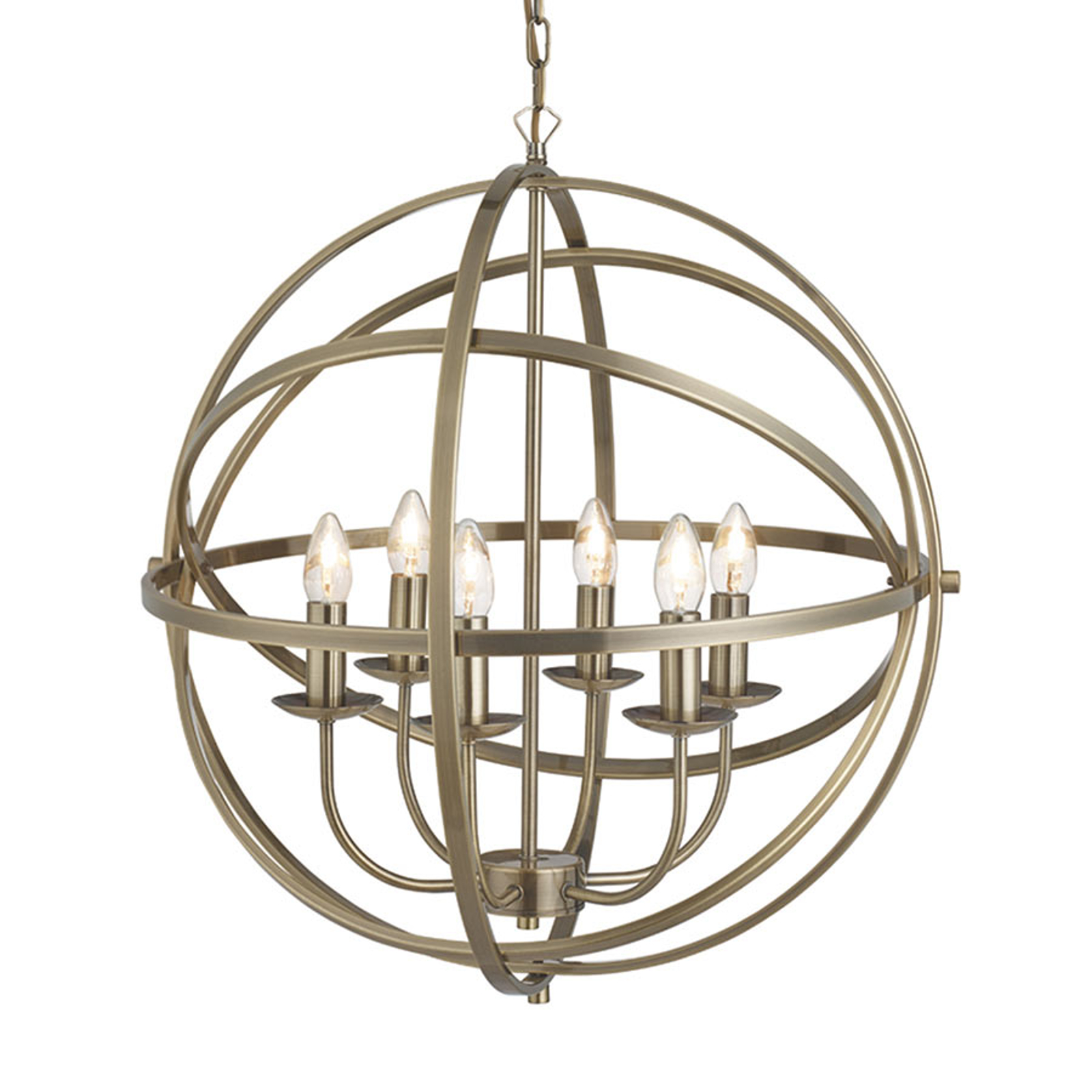 Acquista Aggraziata lampada a sosp Orbit design a gabbia