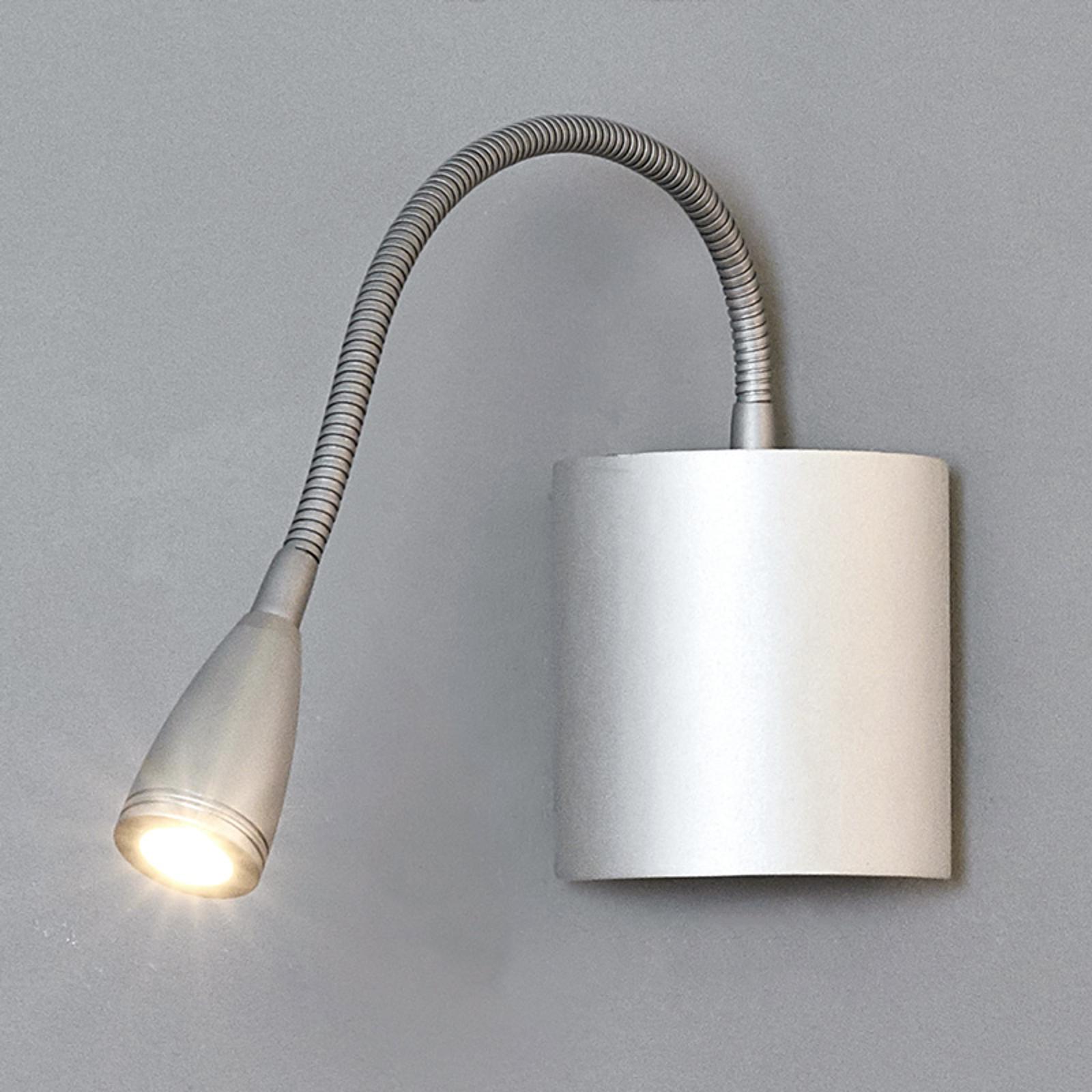Fleksibel, vegghengt leselampe Anneli med LED-lys