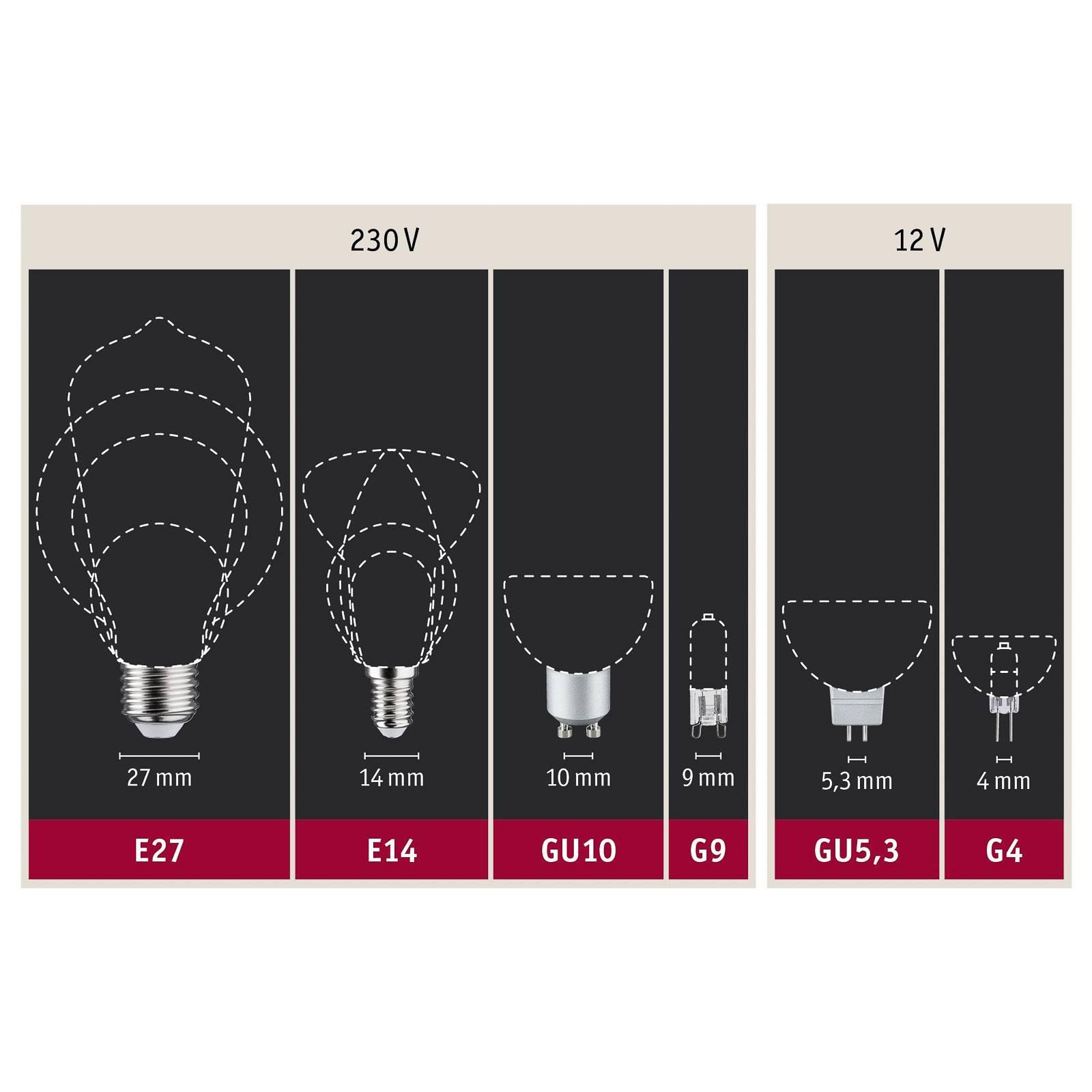 Paulmann LED-lampa E27 filament grön 1,1 W