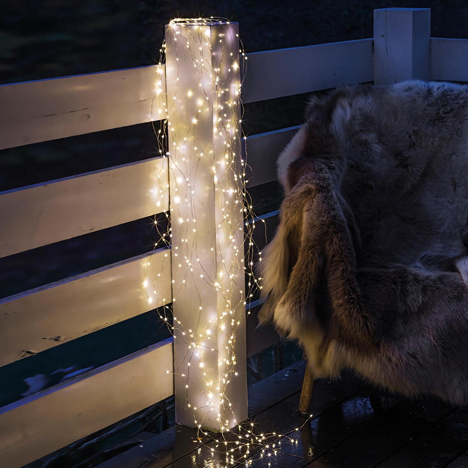 Guirlande LED Knirke pour l'extérieur, 200lampes