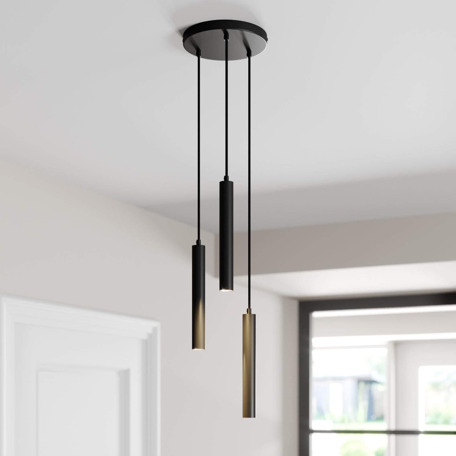 Arcchio Franka LED hanglamp, 3-lamps rond