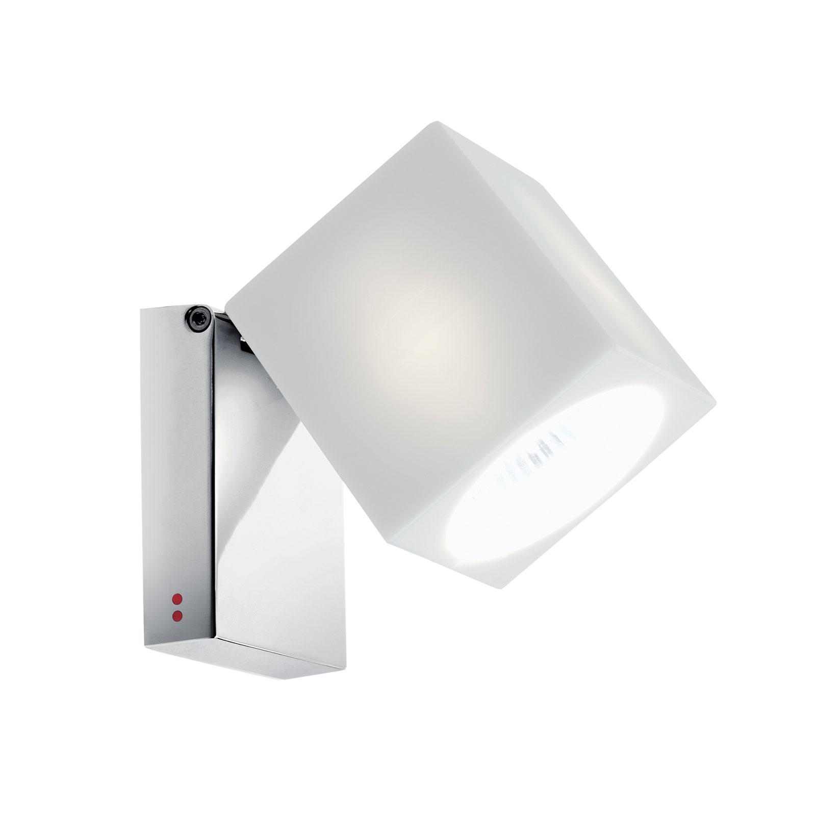 Fabbian Cubetto wandlamp GU10 chroom/wit