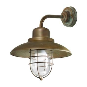 Patio Cage 3303 væglampe, antik messing/klar