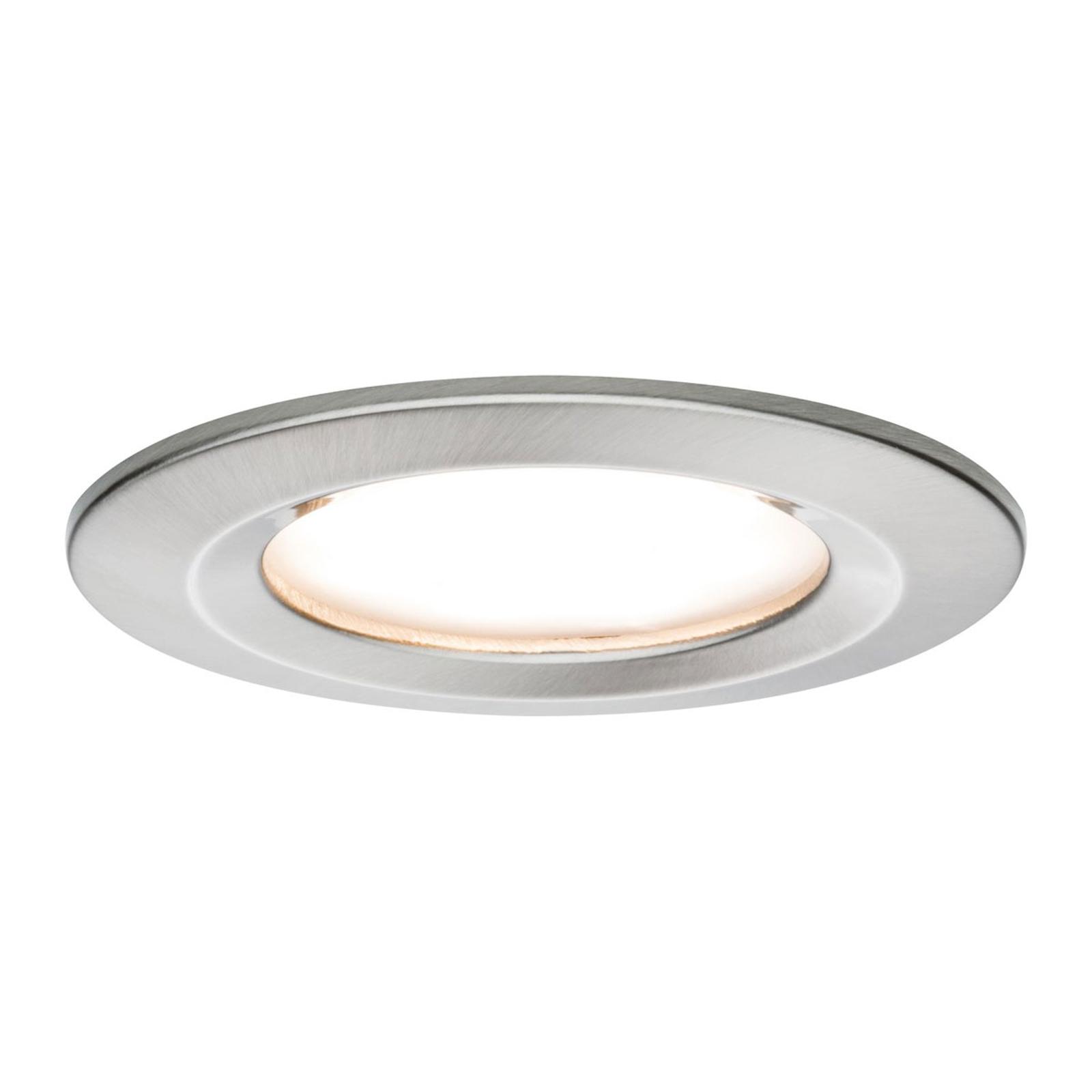 Paulmann 3-pakning LED-spot Slim Coin, jern