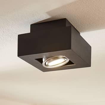 LED-taklampa Vince, 14x14 cm, svart