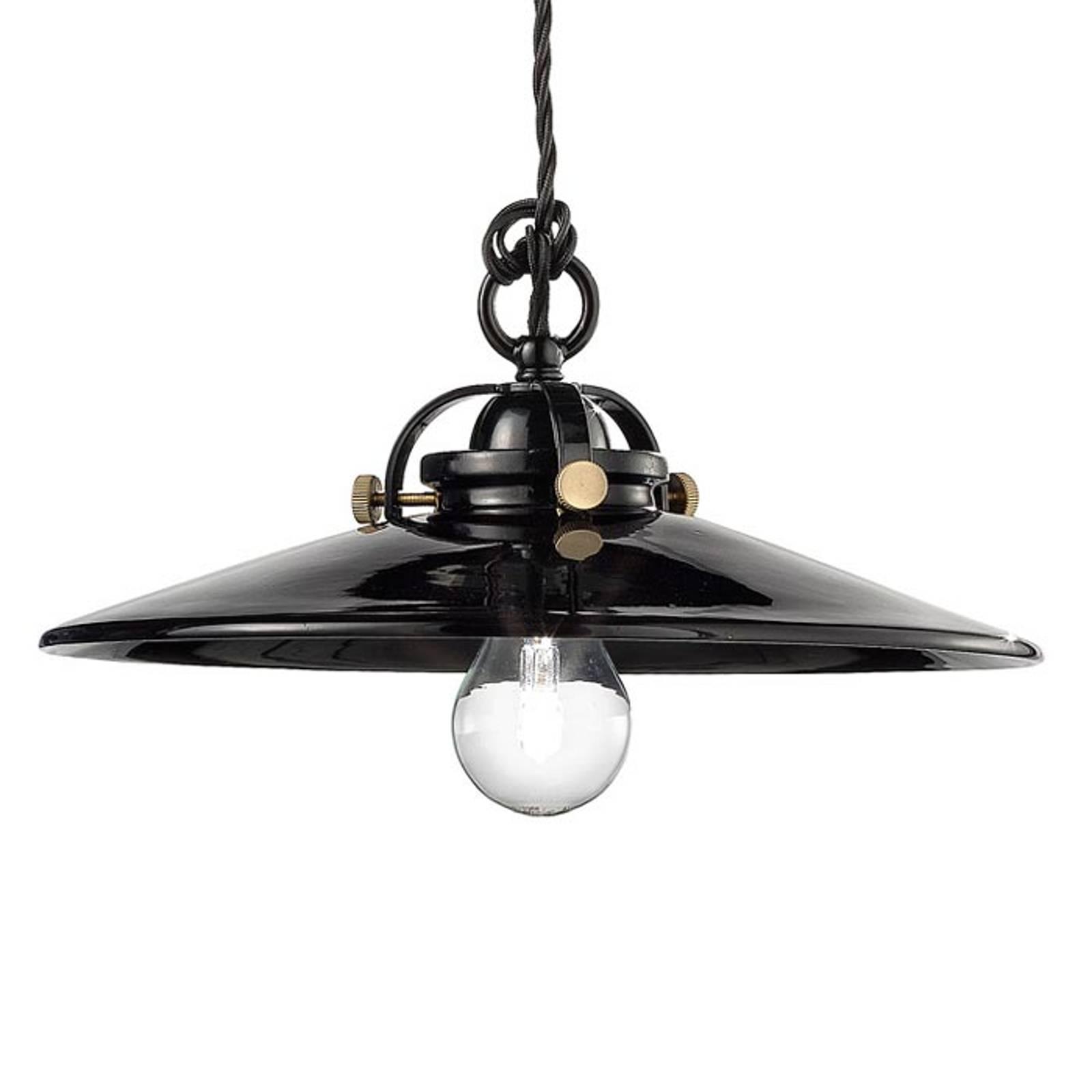 Czarna ceramiczna lampa wisząca Edoardo, 31cm