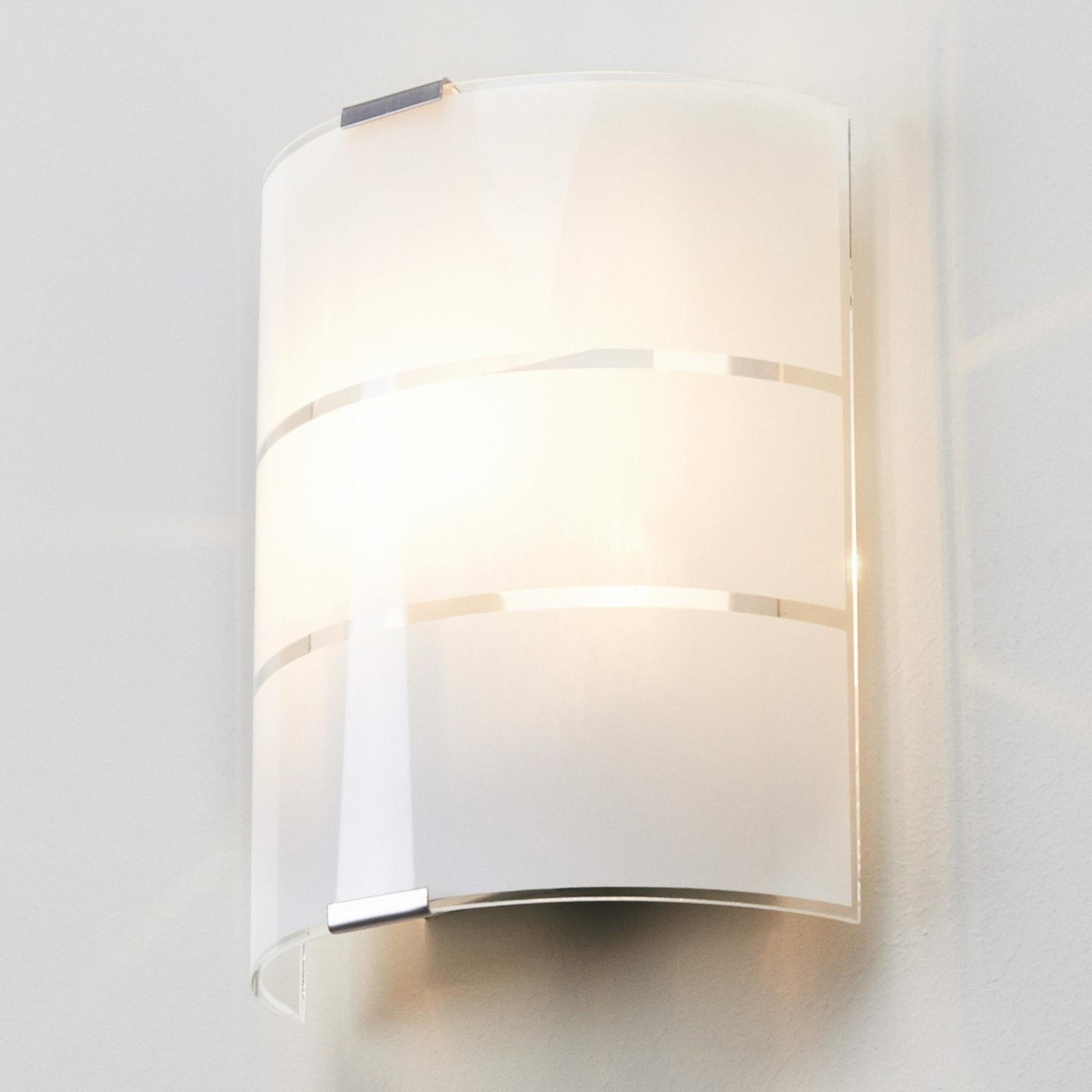 Væglampe i glas Vincenzo