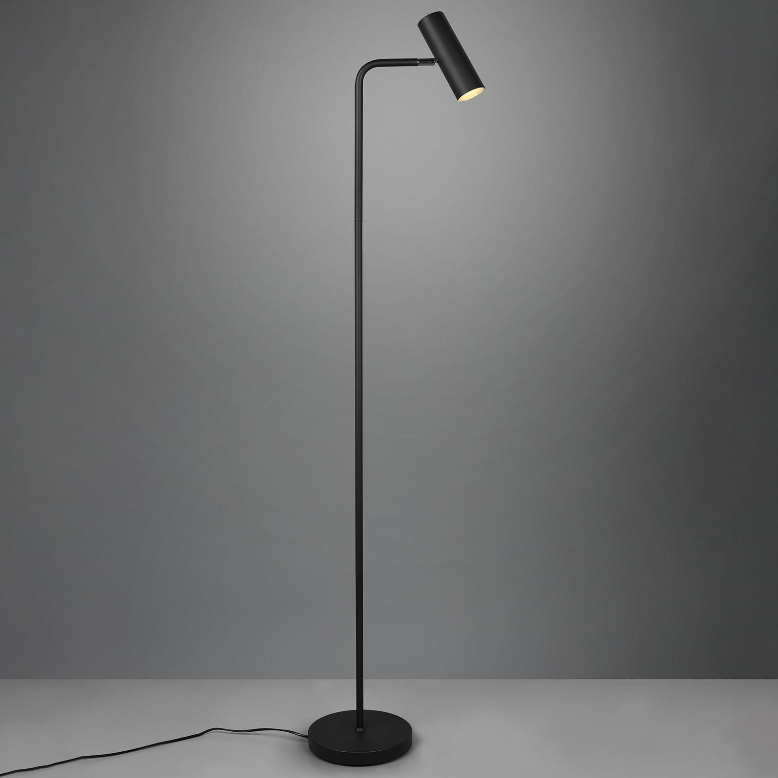 Stojací lampa Marley, černá matná