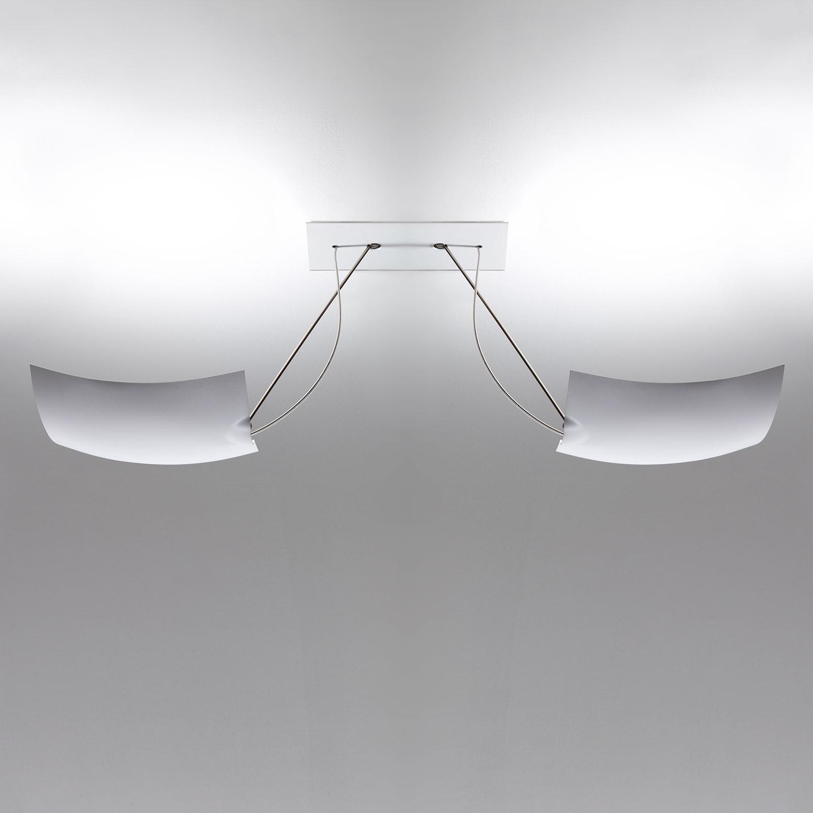 Ingo Maurer 2x18x18 LED-Deckenleuchte, 2-flammig