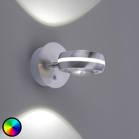 Trio WiZ Vista LED-Wandleuchte, nickel matt