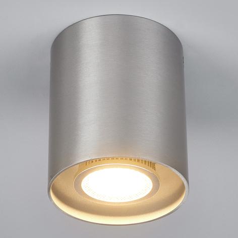 Foco de techoCarson redondo, gris aluminio