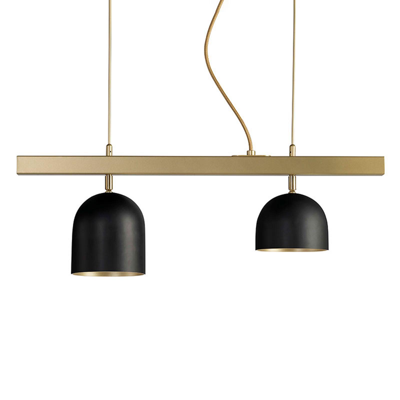 Dome LED-hængelampe 2 lyskilder, sort