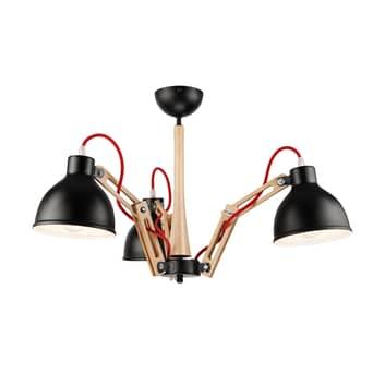 Deckenlampe Skansen 3-flammig verstellbar, schwarz
