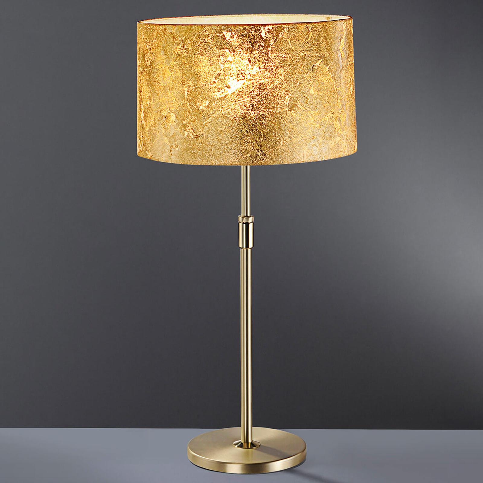 Blattgold-Tischleuchte Loop 55 - 75 cm hoch