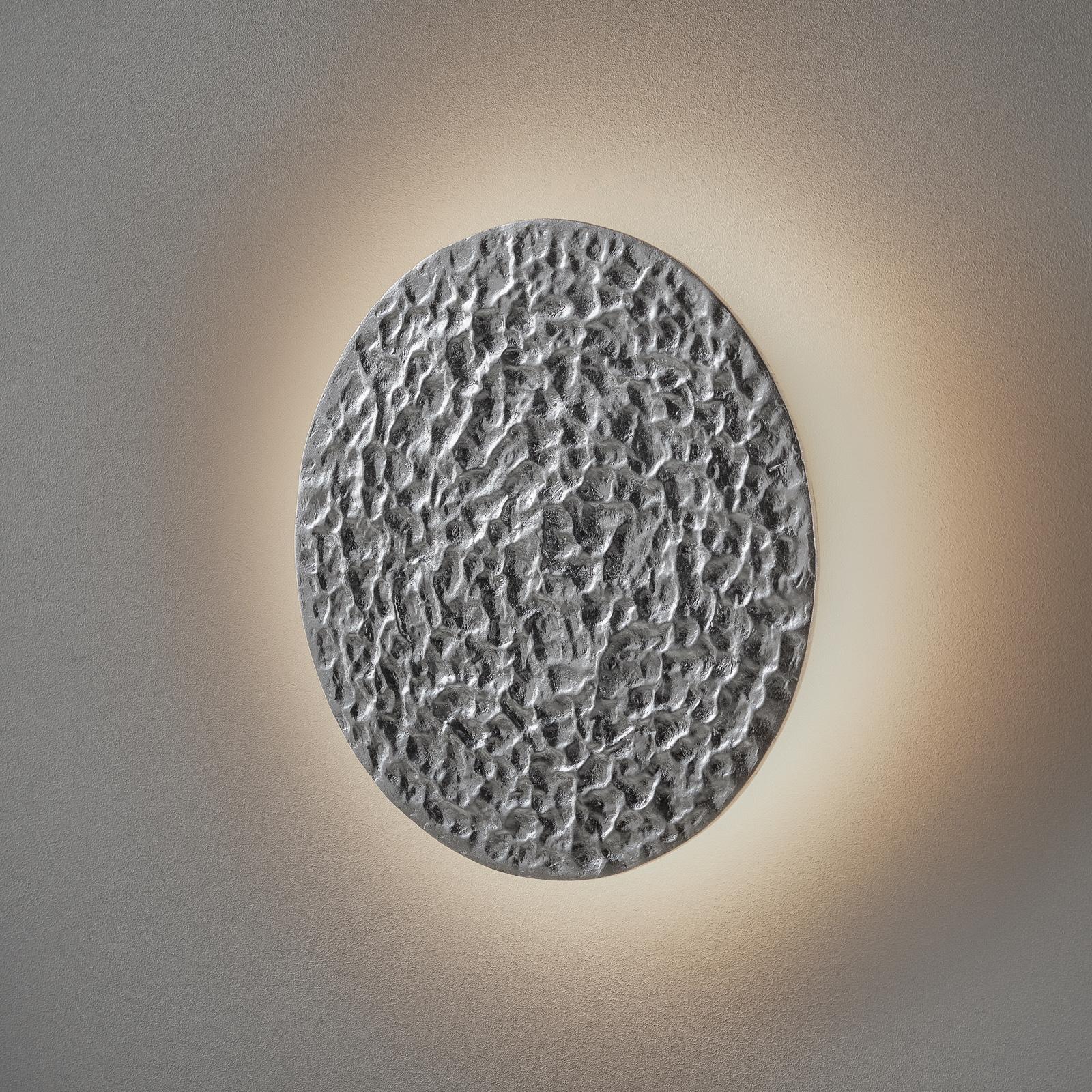 LED-vegglampe Meteor, Ø 27 cm, sølv
