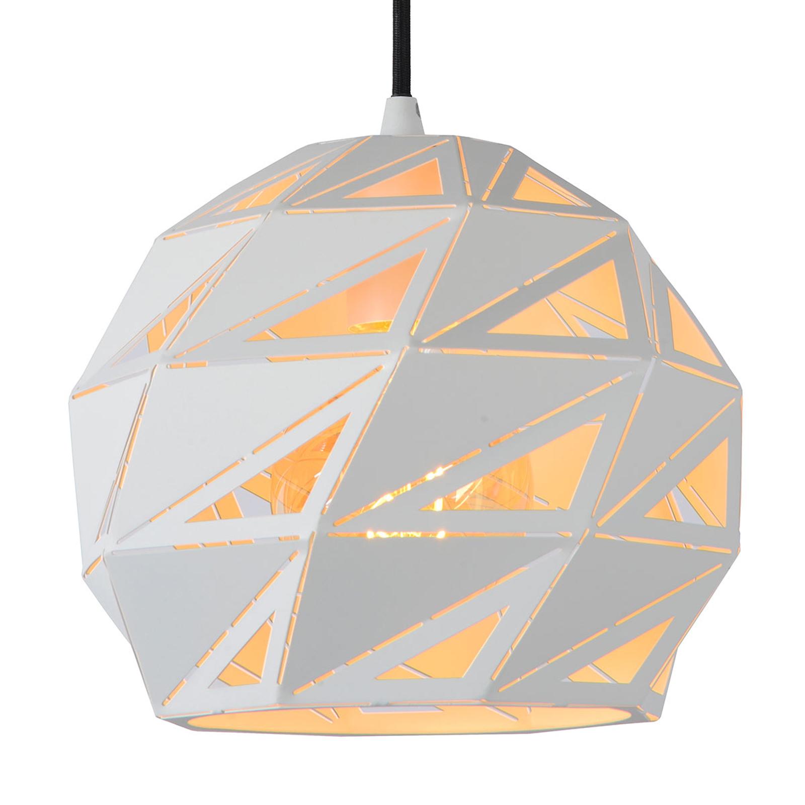 Lampa wisząca Malunga z metalu, biało-złota