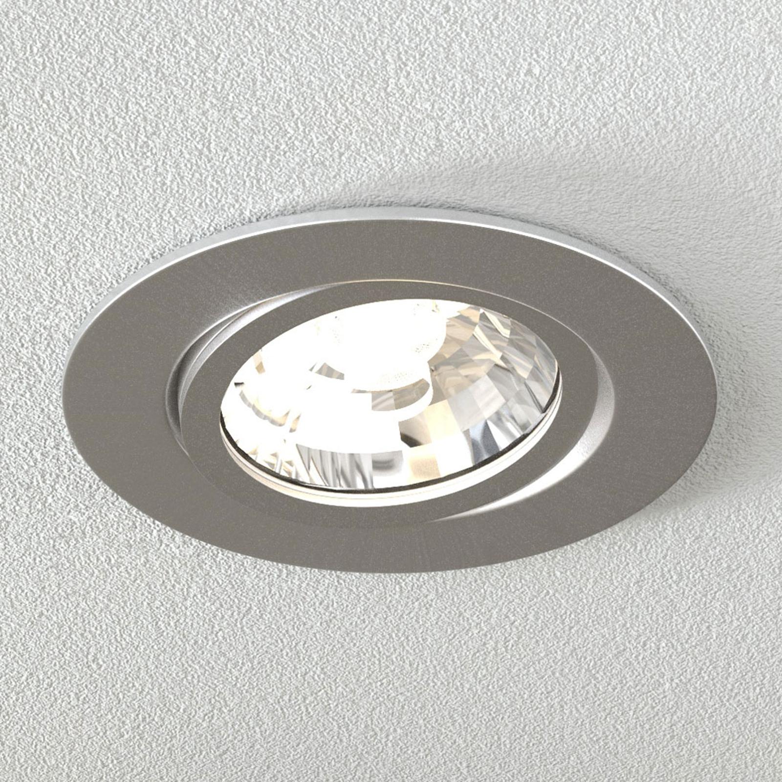 LED-uppovalaisin Rico 6,5 W, harj. teräs