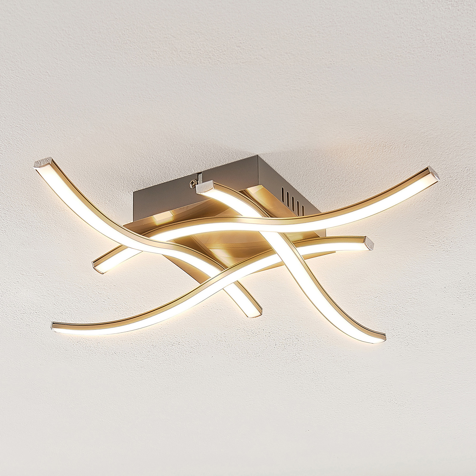 ELC Agostina LED-loftlampe, nikkel