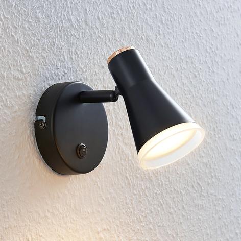 Reflektor LED Michiko, przełącznik, czarny, 1-pkt.