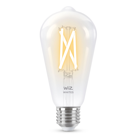 WiZ E27 LED ST64 Filament klar 6,5W 2.200-5.500K