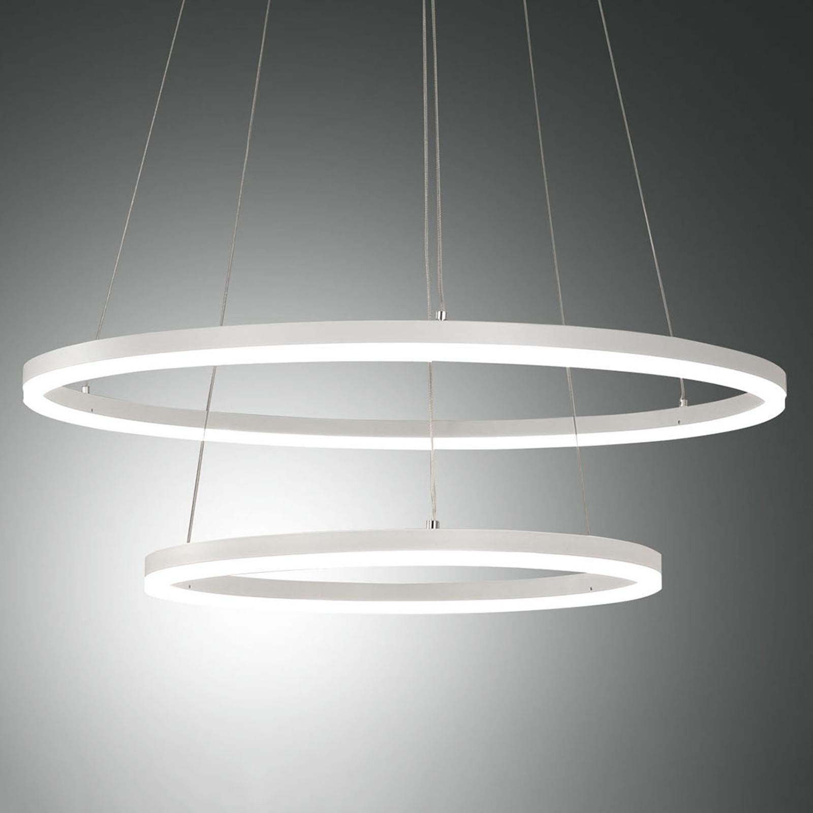 LED-pendellampe Giotto, 2 lyskilder, hvit