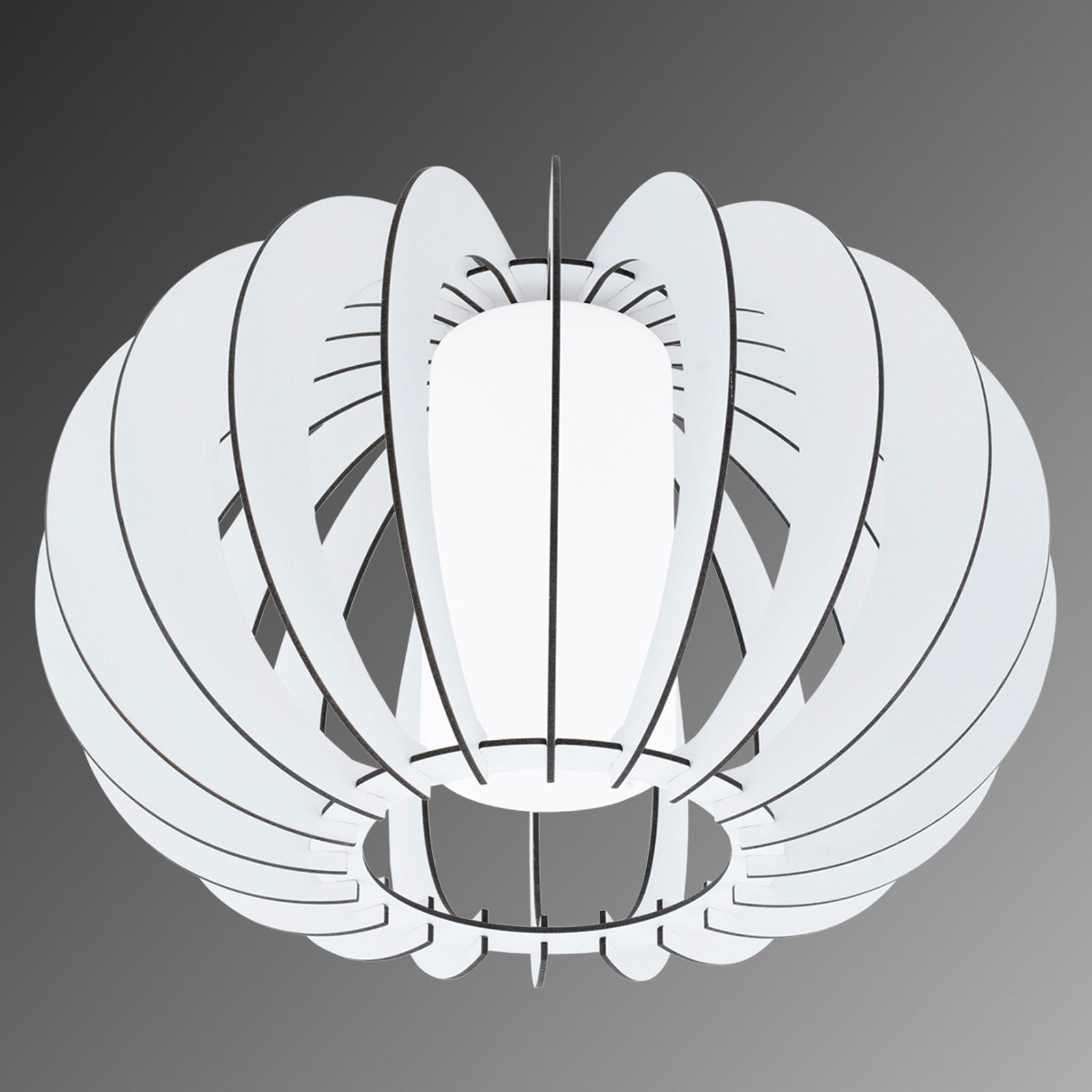 Stellato - plafoniera tonda in legno bianco