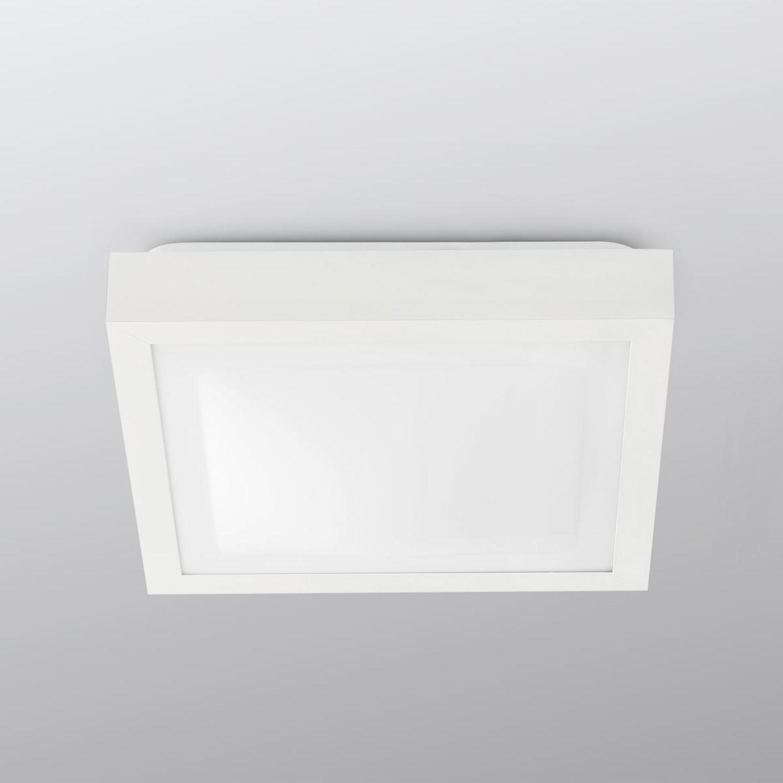 Kwadratowa lampa sufitowa Tola do łazienki