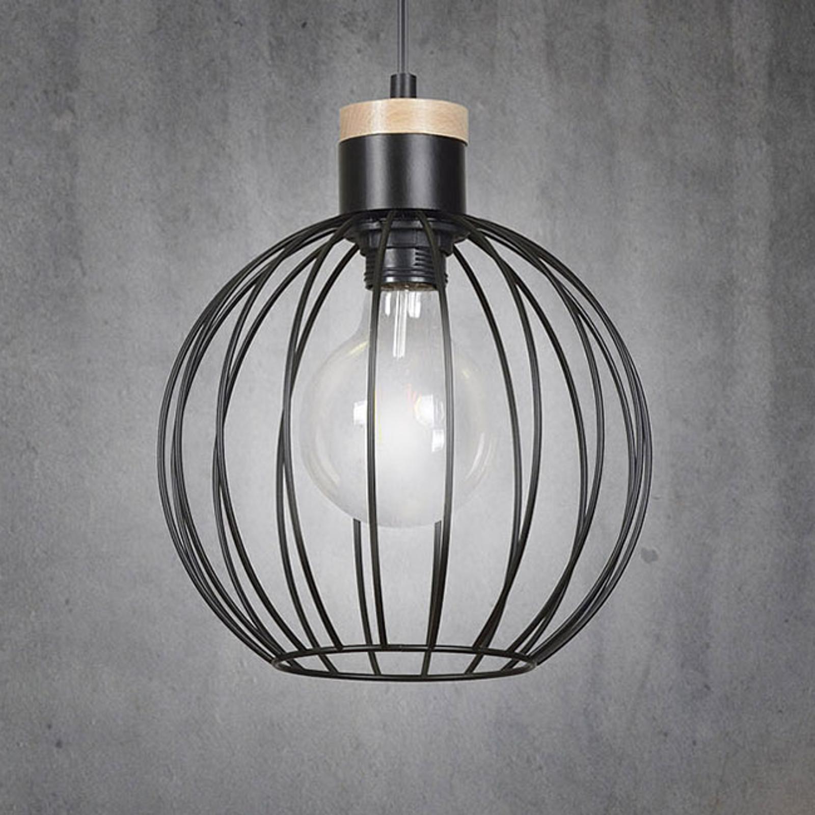 Lampa wisząca Barbado, 1-punktowa, czarna