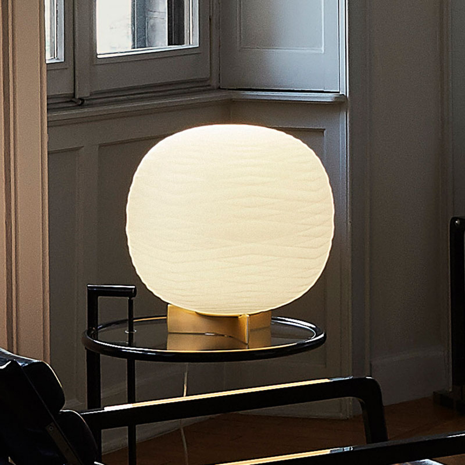 Foscarini Gem bordlampe av glass med dimmer