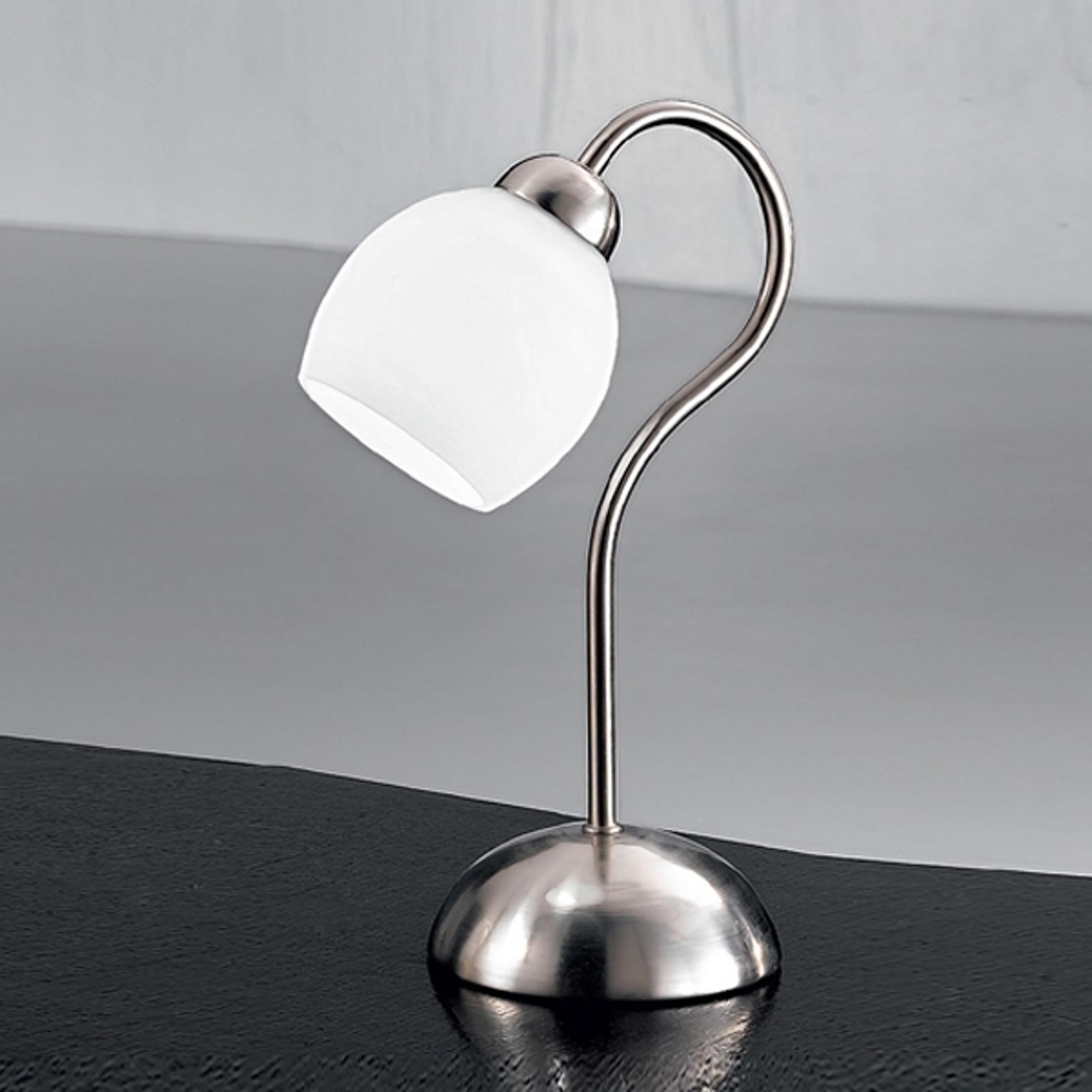 Leuke tafellamp Doma, gesatineerd