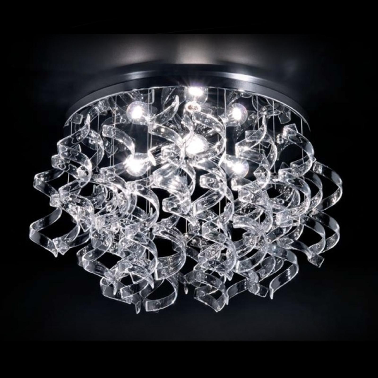 Przezroczysta lampa sufitowa Crystal średn. 70 cm