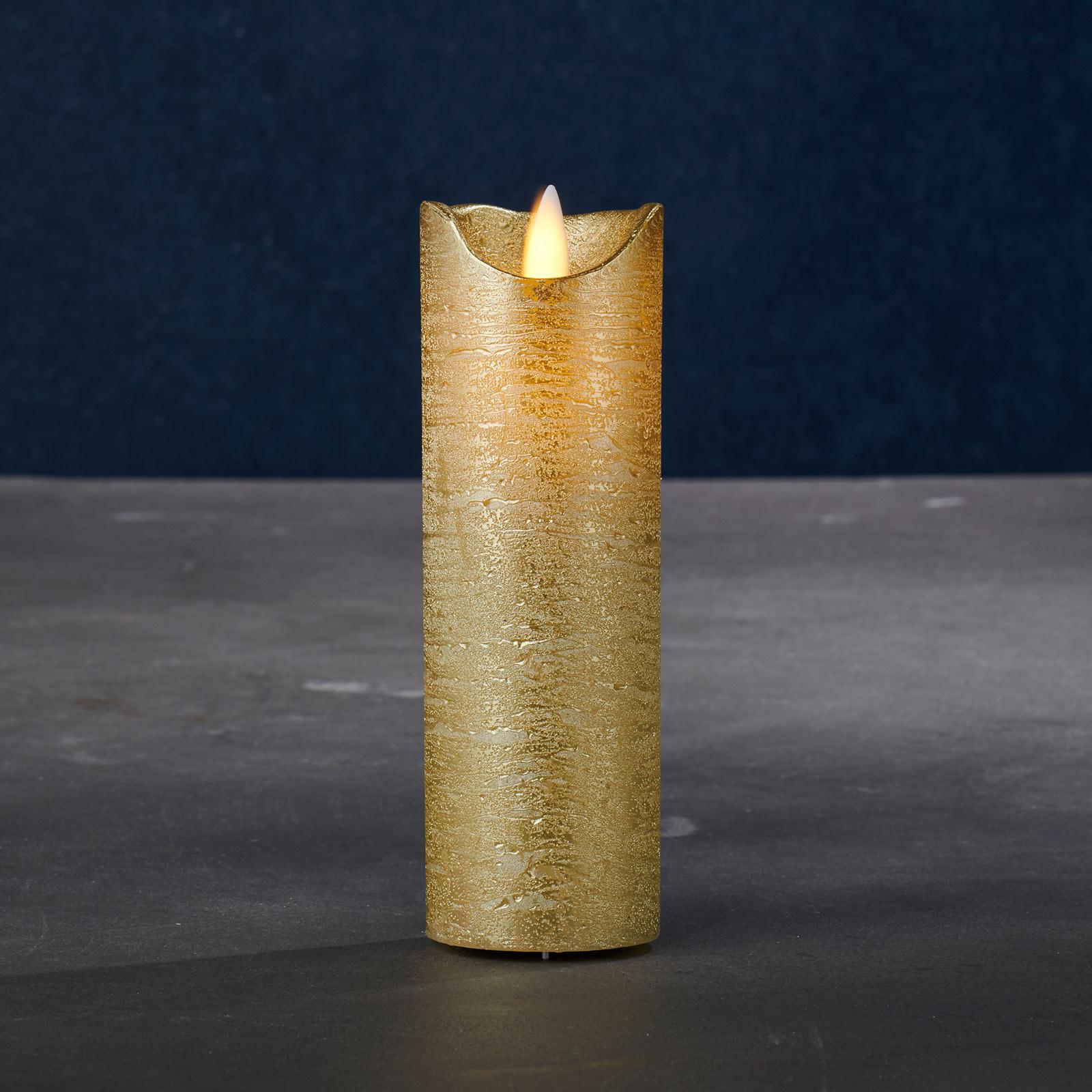 Bougie LED Sara Exclusive or Ø 5cm hauteur 15cm