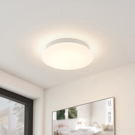 Arcchio Solomia -LED-kattovalo, IP44, lasia, pyör.
