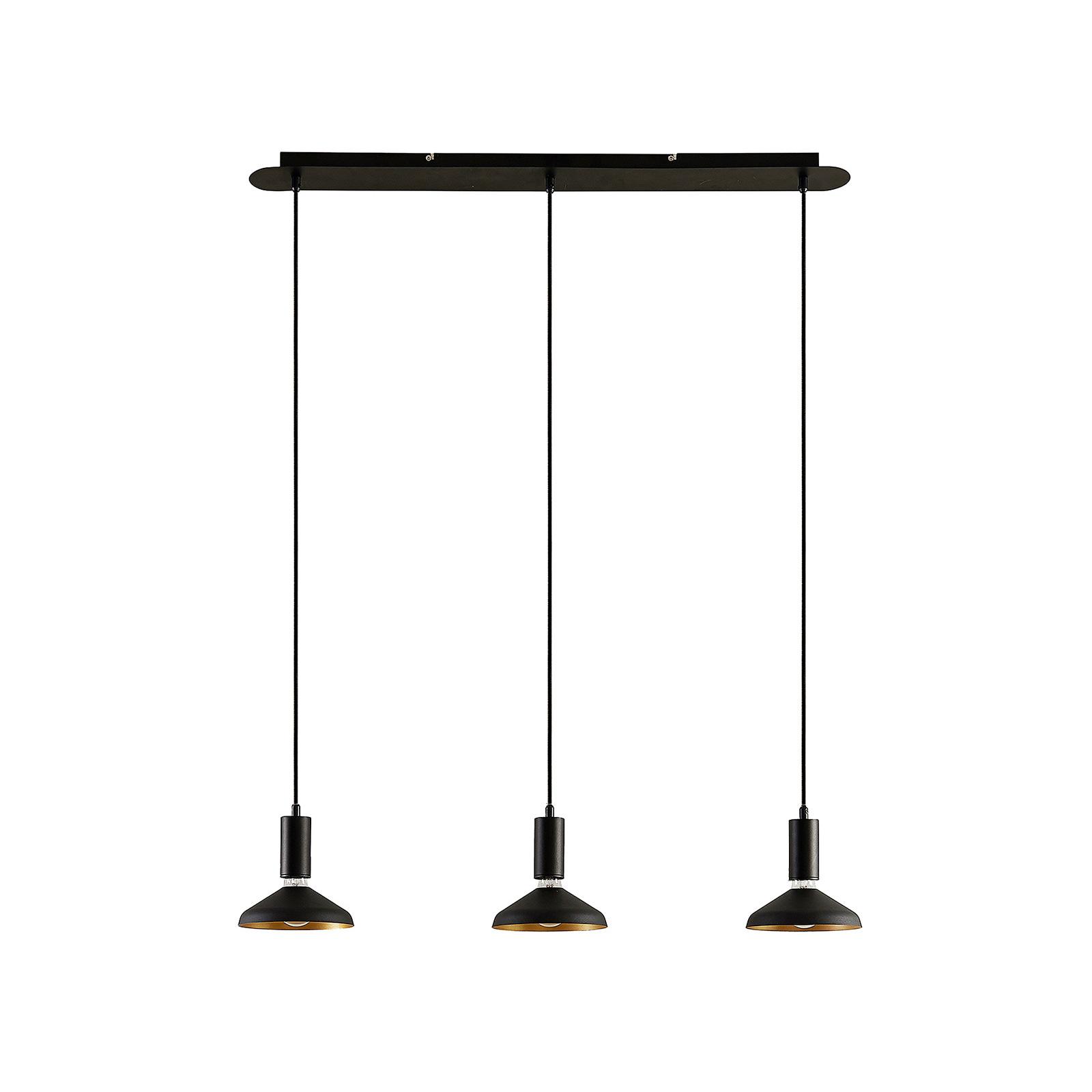 Arcchio Jaika pendellampa, 3 lampor, svart   Lamp24.se