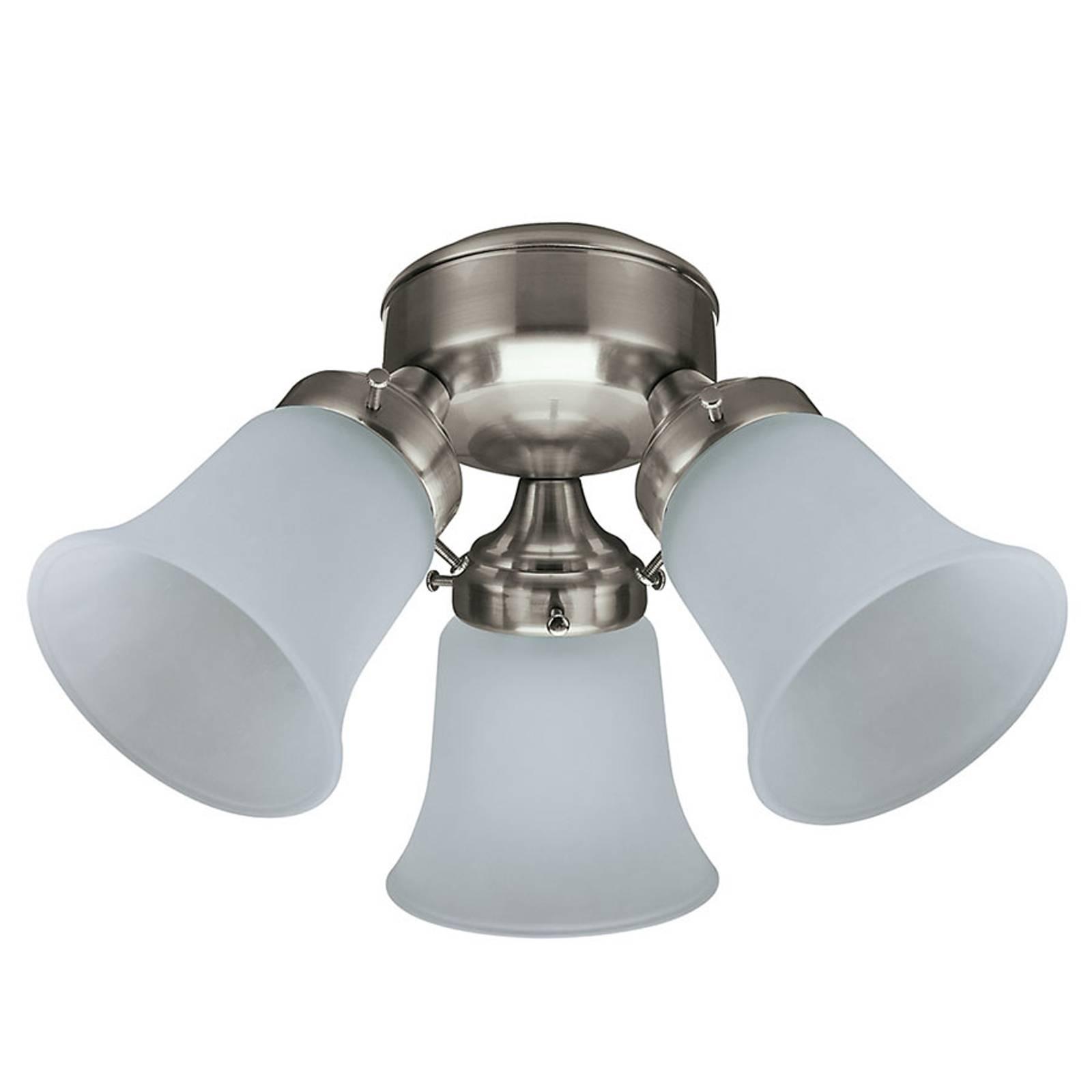 Lampe til loftventilatorer Hunter, nikkel