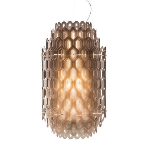 Oranssinruskea design-riippuvalaisin Chantal, LED