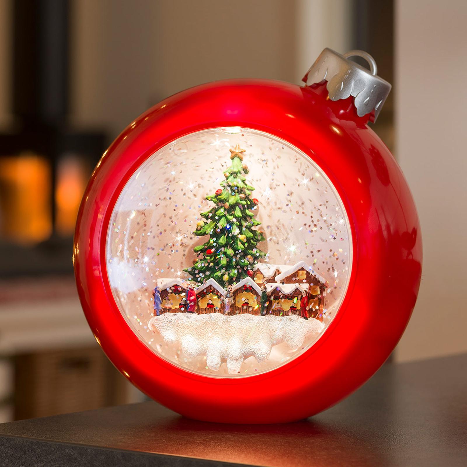 Rote LED-Kugel Weihnachtsmarkt, wassergefüllt