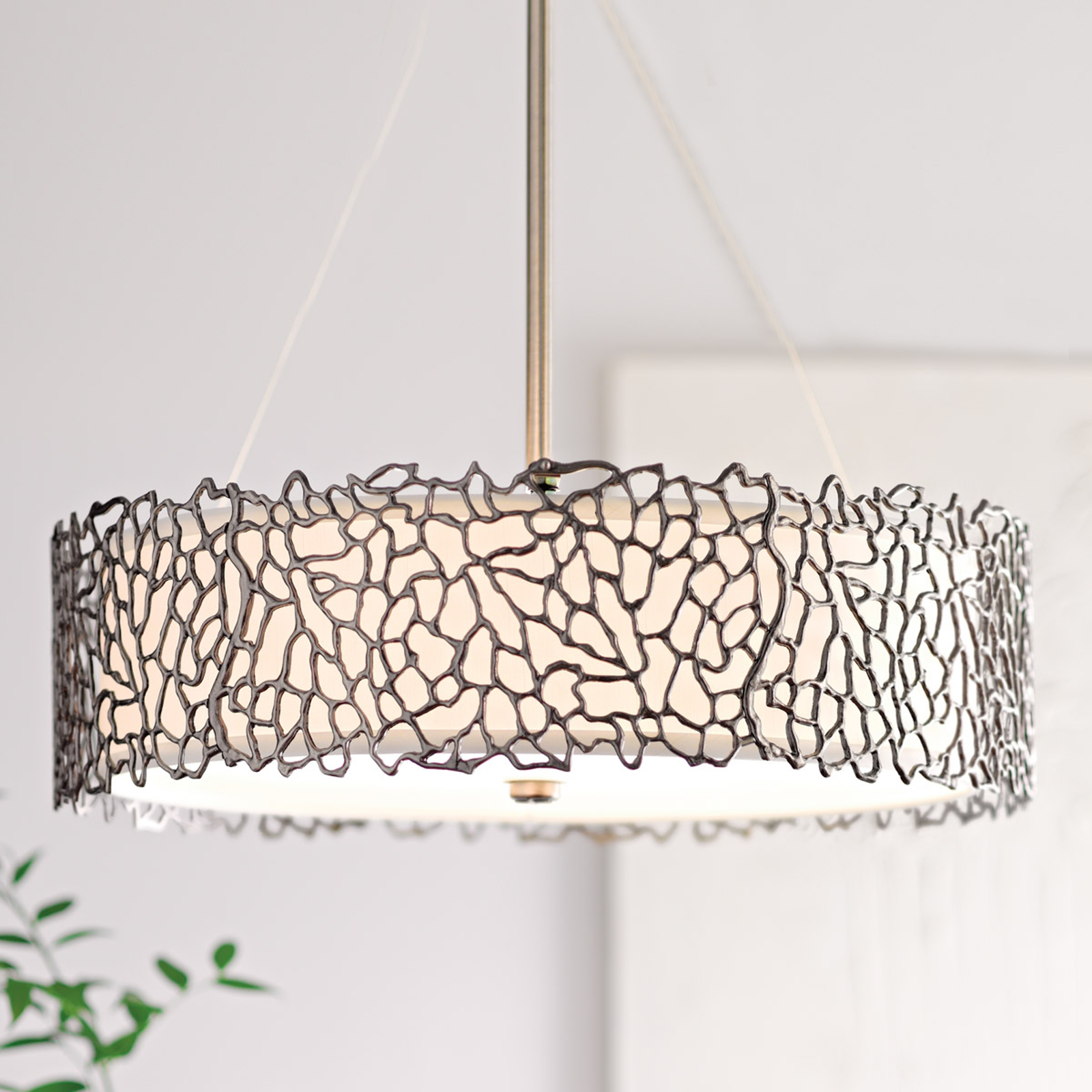 Silver Coral hanging light, 55.9 cm_3048279_1