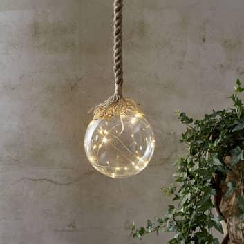 LED-Dekorationsleuchte Jutta mit Glaskugel