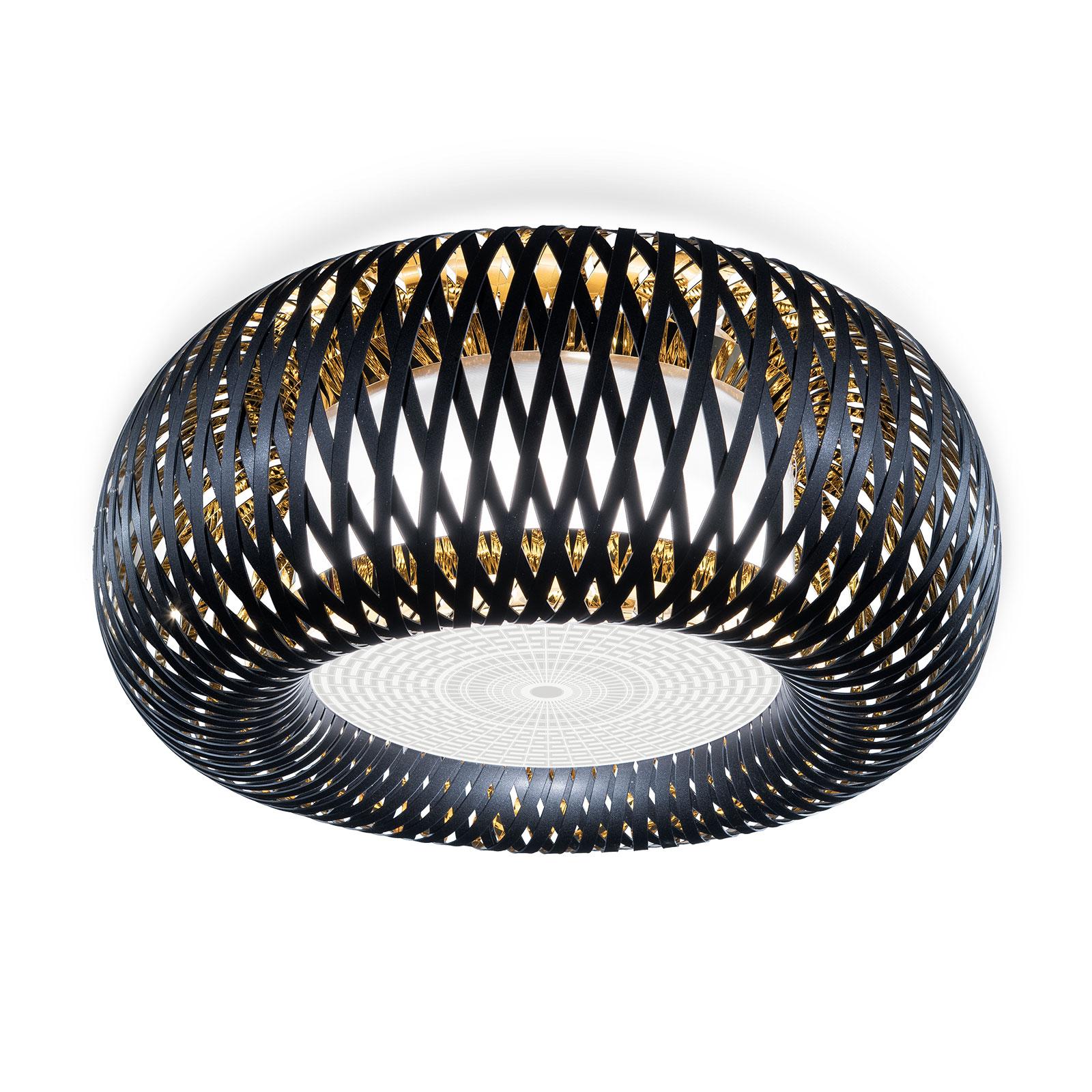 Slamp Kalatos stropní světlo, černá/zlatá/bílá