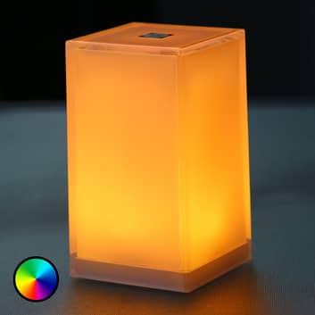 Lampa stołowa Cub zestaw 6 szt., aplikacja, RGBW