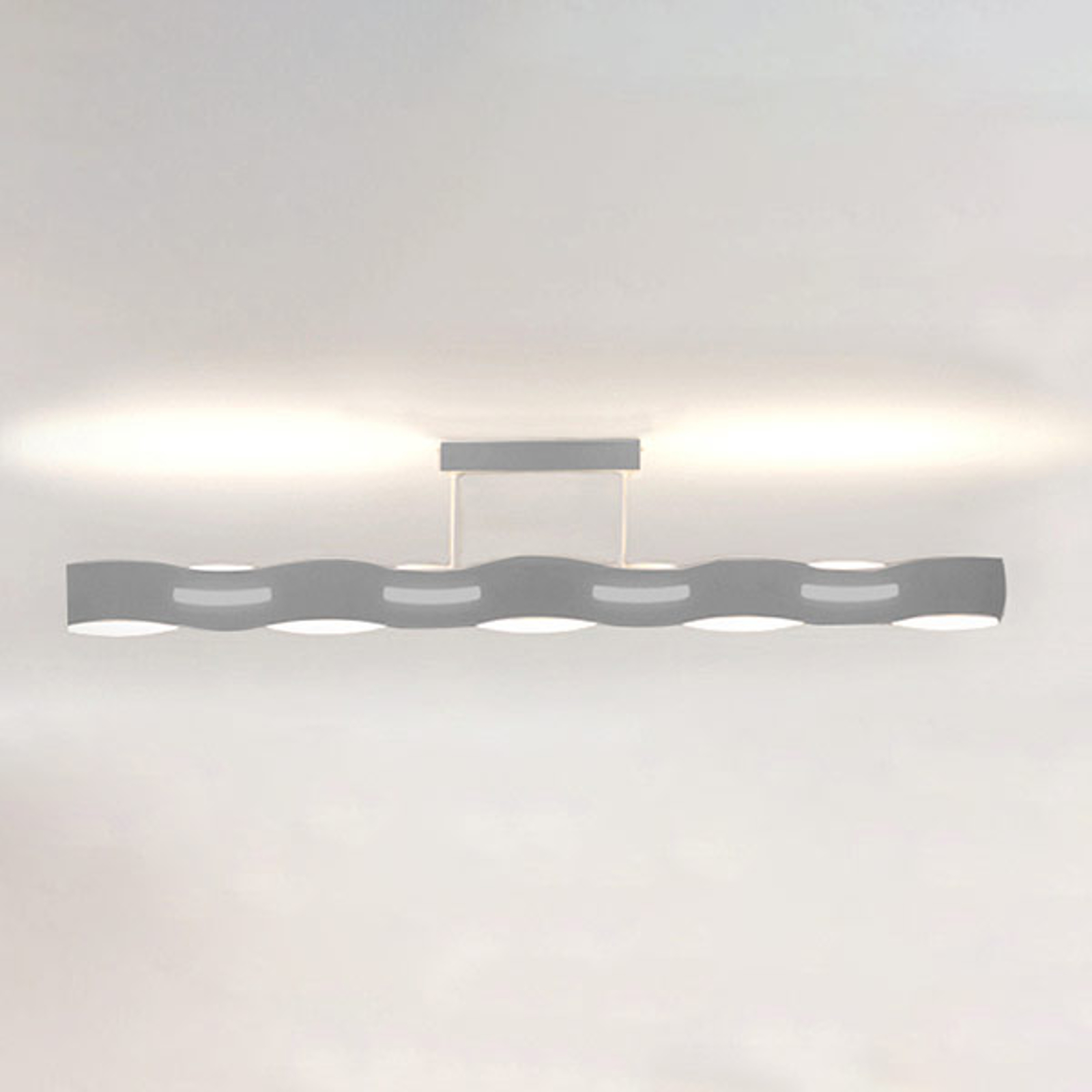 LED plafondlamp Wave nikkel