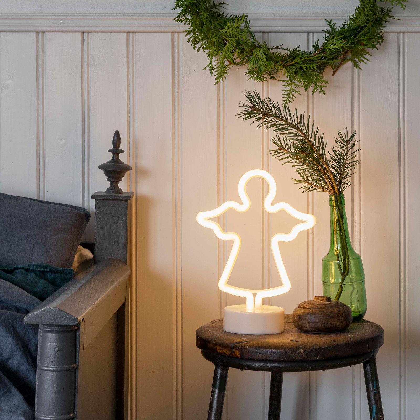 LED-dekorasjonsbelysning slangesilhuett Engel