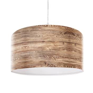 Rustikální závěsné světlo Woody dřevěný vzhled