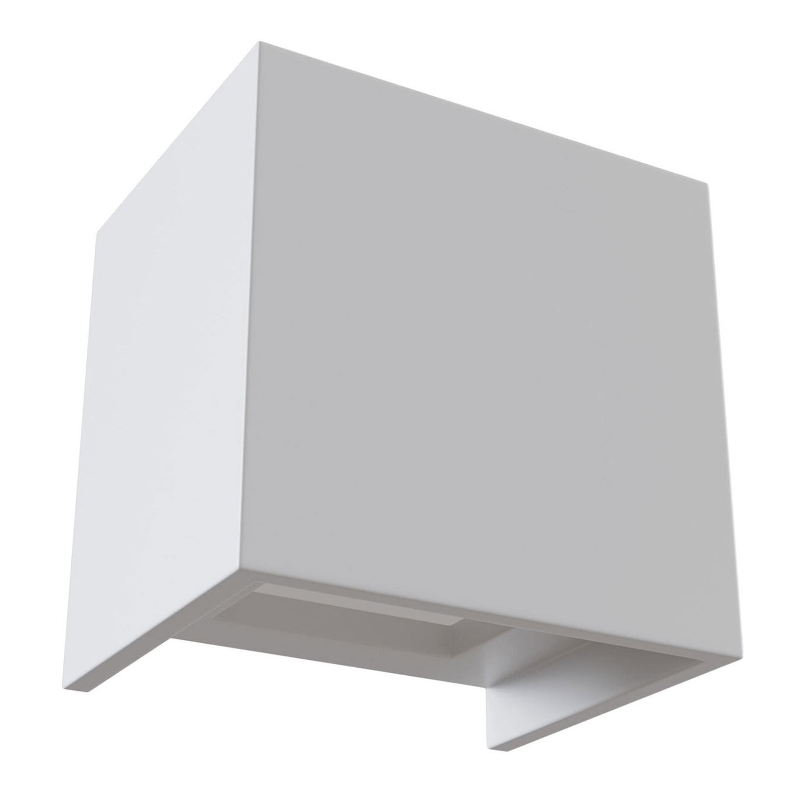 LED-Wandleuchte Parma aus Gips, 10x10 cm