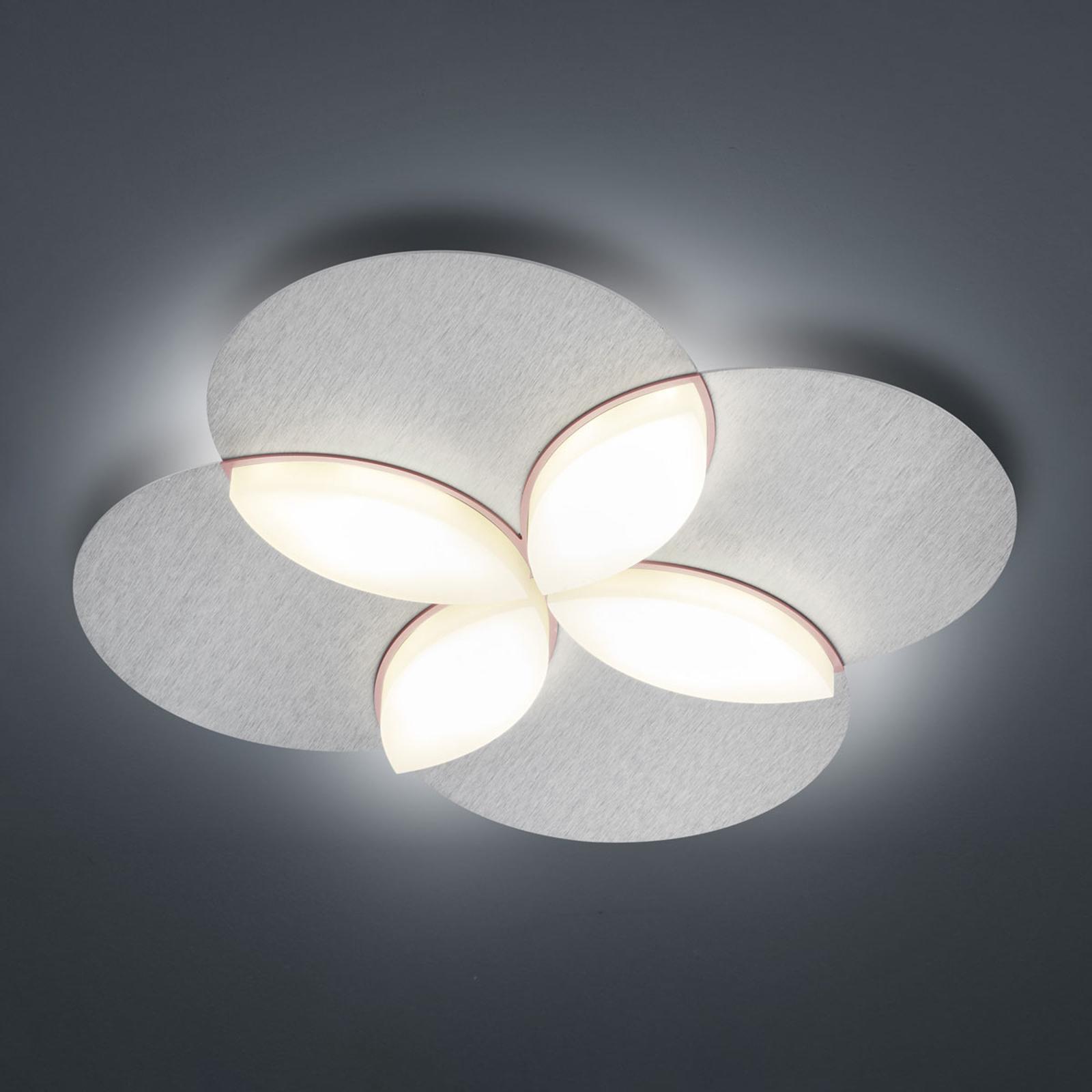 BANKAMP Spring plafonnier LED, argenté anodisé