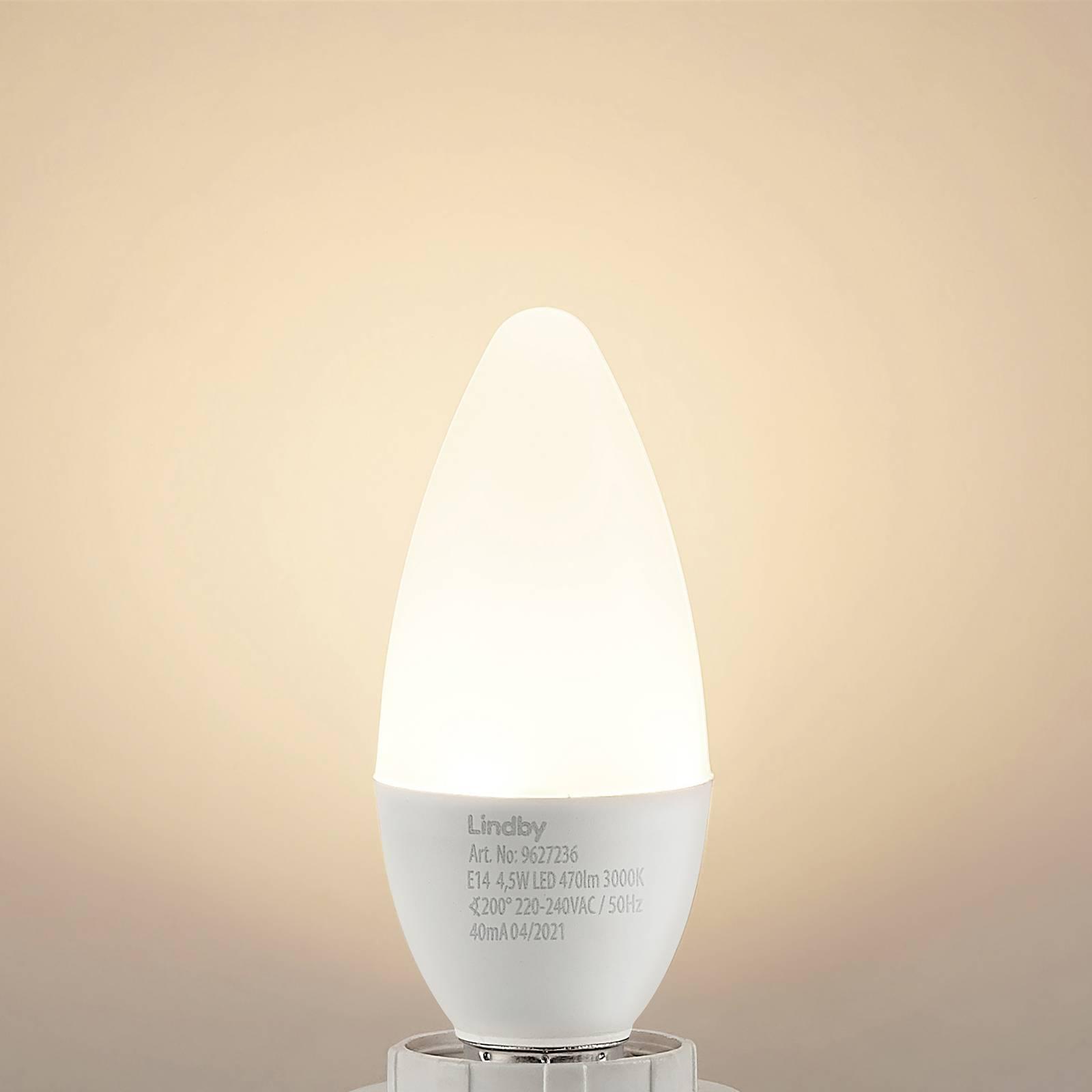 Lindby LED candela E14 C35 4,5W 3.000K opale