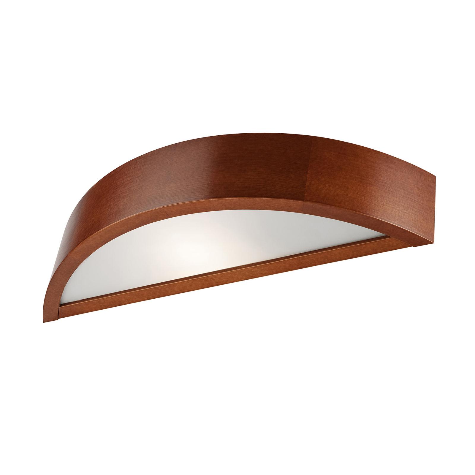 Wandlampe Kerio, halbrund, kiefer rustikal